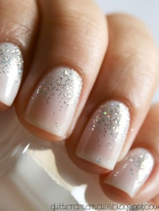 Sparkly wedding nail designs