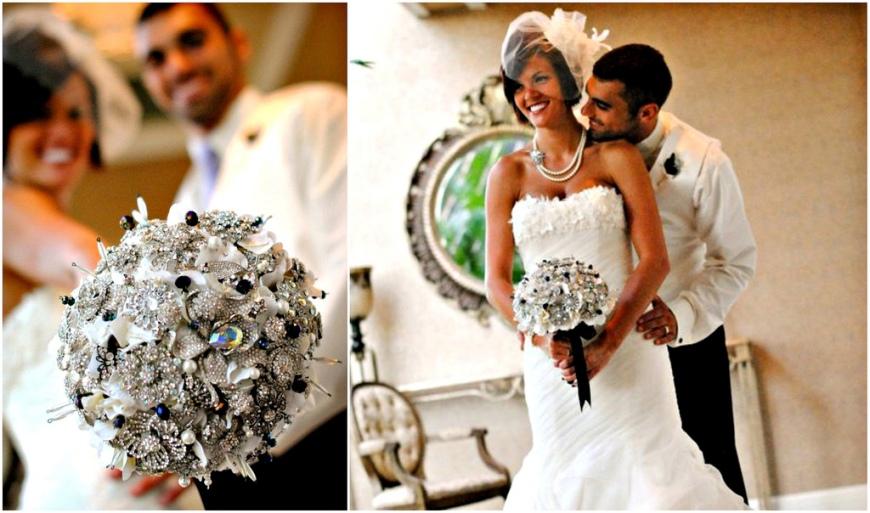Broach wedding bouquet