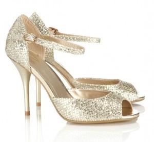 Sparkle wedding shoes