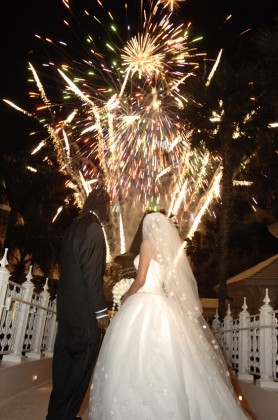 Fireworks for wedding