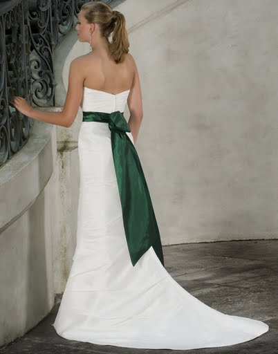 green-white-wedding-dresses