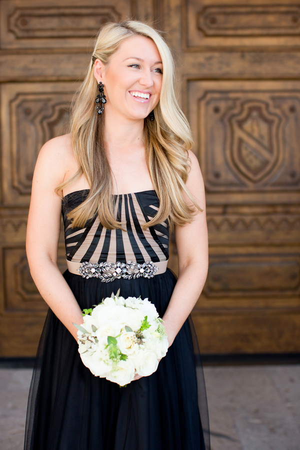 Black-and-Gold-Bridesmaids-Dress-600x900