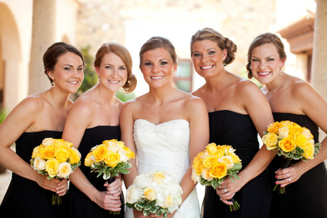 bridesmaids-black-yellow