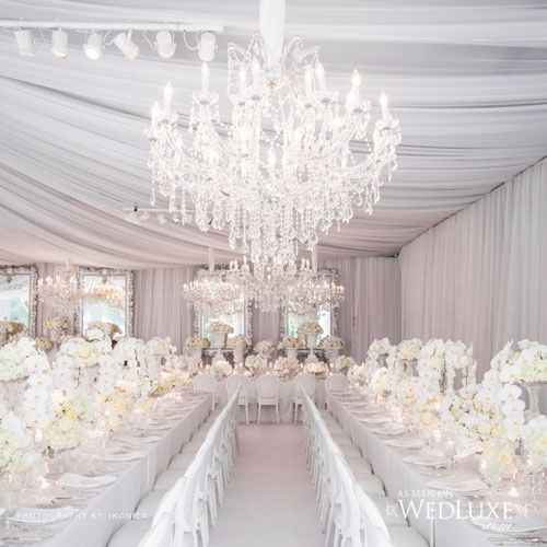 White Theme Wedding Decor: A Very Frozen Themed Wedding
