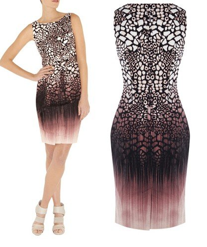 Freeshipping-fashion-2012-KM-pefect-animal-print-dinner-party-ladies-casual-karen-dress-bridesmaids-dresses-pencil